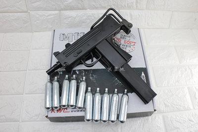台南 武星級 KWC M11 衝鋒槍 CO2槍 + 12g CO2小鋼瓶 ( uzi烏茲機關槍co2直壓槍BB槍BB彈
