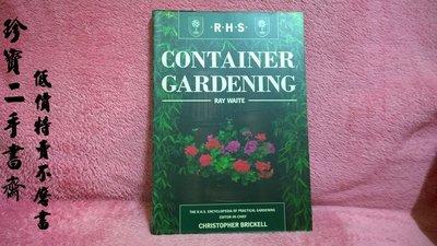 【珍寶二手書齋FB5】Container Gardening