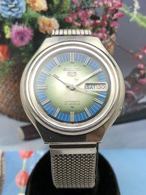 二手SEIKO 7019-7190自動上鍊機械男錶(雙色面盤)