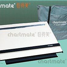chartmate 恰得美 製圖桌:173PR-90P A1攜帶式圖板 左邊印有水平基準線