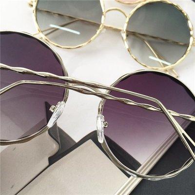 歐美時尚圓形太陽鏡2017百搭潮流墨鏡圓臉顯瘦眼鏡個性復古墨鏡潮