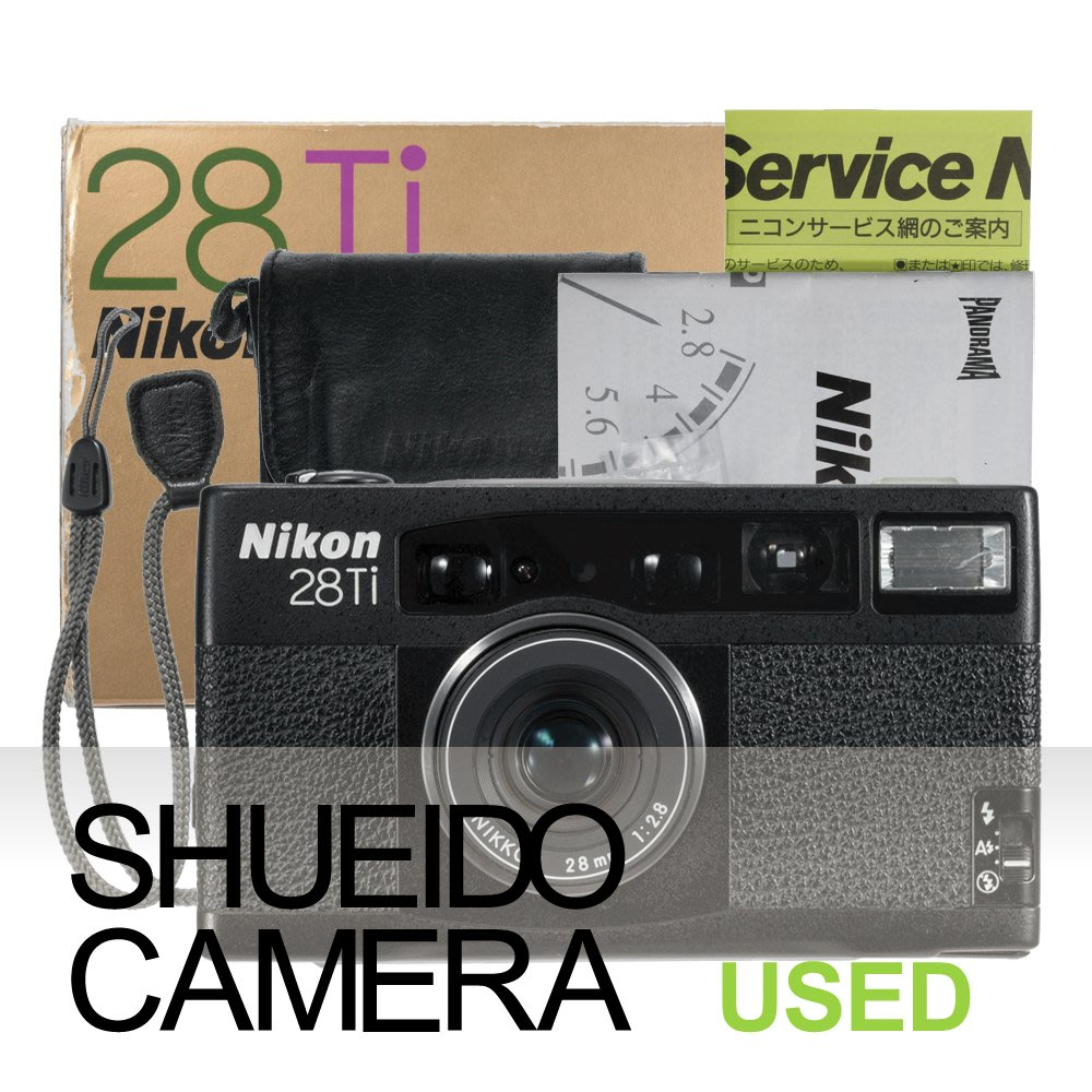 集英堂写真機【3個月保固】良上品 NIKON 28TI 28mm F2.8 135 底片相機 隨身機 19777-1