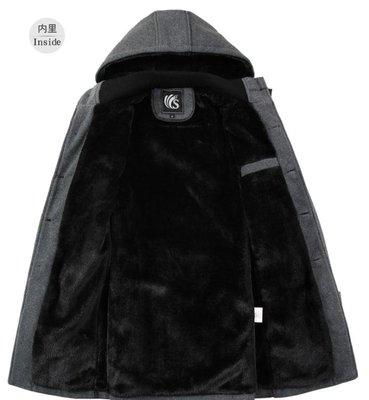 大衣外套 冬天中長款日韓版型風衣男加絨加厚鋪棉外套 『幸福港灣』