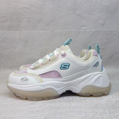 [麥修斯]SKECHERS D'LITES KOZMIKS 老爹鞋 曾之喬 果凍底 白紫 女款 88888407WLV