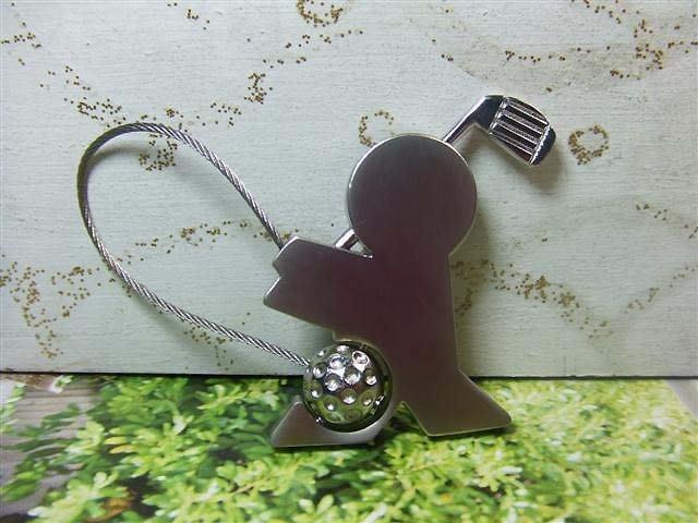 ☆創意小物店☆高爾夫球小子 鋼絲鎖鑰匙扣 /創意可愛金屬鑰匙圈 時尚造型個性飾品