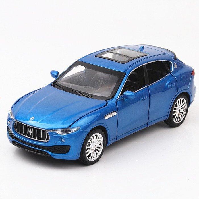 ╭。BoBo媽咪。╮天鷹模型 1:32 Maserati Levante 瑪莎拉蒂 萊萬特 六開門 聲光回力車-預購