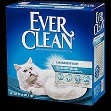 ω毛腸腸ω(有現貨)【 Ever Clean藍鑽貓砂-白標-『雙重活性碳低過敏結塊砂』(低過敏)11KG/25磅*1箱】