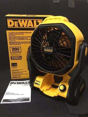 【阿賢工具】全新 DEWALT 得偉 20V 18V DCE511 電風扇 防潑水