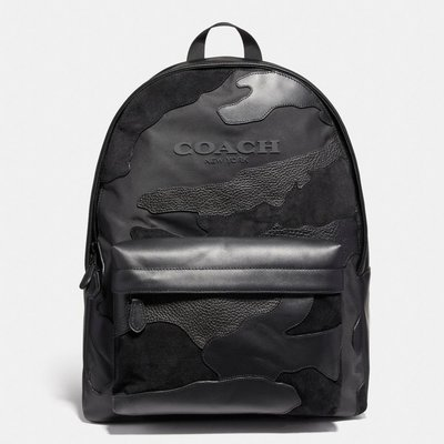 COACH 59935 CHARLES BACKPACK IN BLACKOUT MIXED MATERIALS 後背包