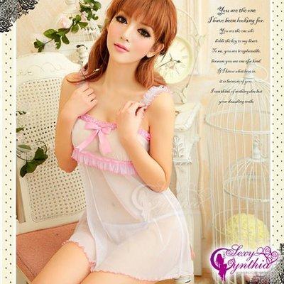【薇閣情趣】熱戀粉色!性感網紗二件式睡襯衣┌NA11020080