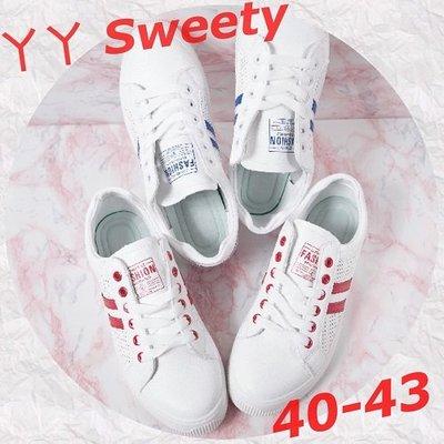 ☆(( 丫 丫 Sweety )) ☆。大尺碼女鞋。流行時尚運動風休閒布鞋40-43(F87)下標時以即時庫存為主
