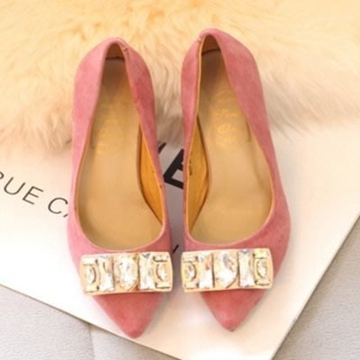 尖頭高跟鞋 水晶婚鞋-磨砂百搭新款俏麗女鞋子2色73e24[獨家進口][巴黎精品]