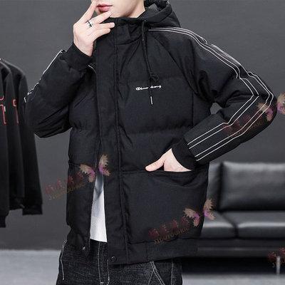 極度誘惑內衣 =  男士棉衣寬松休閑青少年連帽外套時尚韓版潮流冬季麵包服 =t恤背心加絨長袖襯衫夾克衛衣防寒外套