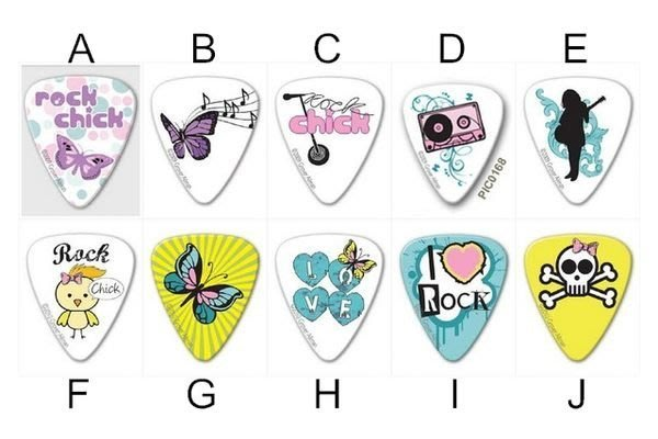 ☆ 唐尼樂器︵☆澳洲製 Grover Allman Rock Chick 烏克麗麗/木吉他/電吉他 Pick 彈片