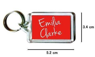 〈可來圖訂做-鑰匙圈〉Emilia Clarke 艾蜜莉克拉克 壓克力雙面鑰匙圈 (可當吊飾)