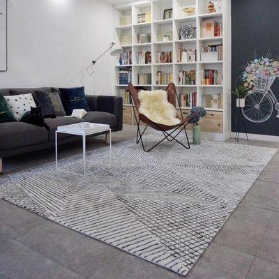 🌟玩美🌟北歐X工業 簡約地毯♥️160*230 工業風地毯 LOFT地墊 展示區❇️客廳❇️臥室❇️餐廳 💡[金泰傢俱]