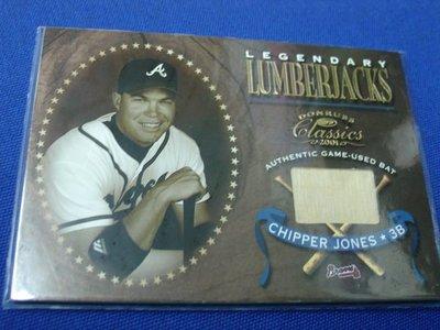 阿克漫427-10~MLB-2001年Donruss Classics球棒特卡Chipper Jones只有一張