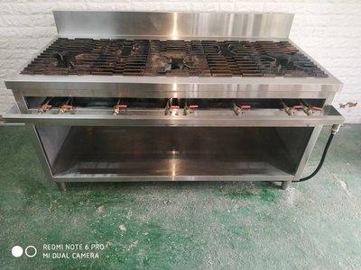 三口爐台 炒台 快速爐 二手中古 高湯爐 餐飲設備 B375-予新傢俱