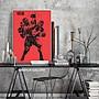 C - R - A - Z - Y - T - O - W - N 泰森拳擊運動掛畫 健身房裝飾畫 美式體育人物裝飾掛畫