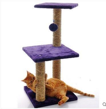 2017新款三層貓爬架抓板貓跳臺玩具用品ASD619