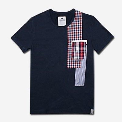 【YOYOGI PLUS】ADLIB - 百家拼布口袋TEE (深藍)