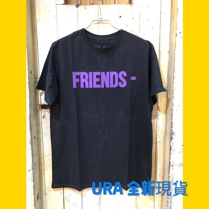 【URA 全新現貨】   VLONE 2019 FRIENDS 黑紫 短TEE 大V LOGO