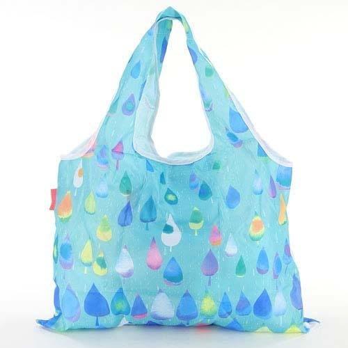 日本 小水滴手提側背兩用包 購物袋~附收納袋