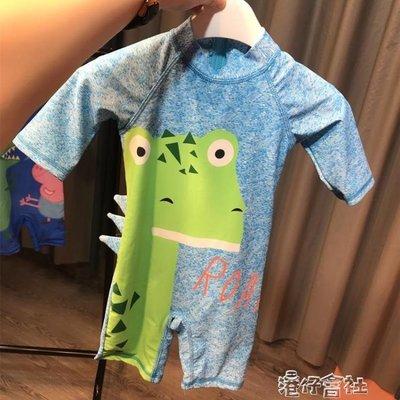 兒童男童連體泳衣防曬速幹小童寶寶游泳衣男孩泳裝嬰兒韓國