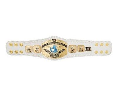 ☆阿Su倉庫☆WWE Intercontinental Championship Mini Belt 迷你版金屬冠軍腰帶