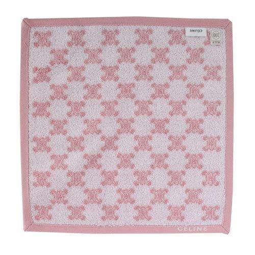 【姐只賣真貨】CELINE 經典滿版LOGO雙面純棉小方巾(粉紅/朱紅)  情人節好物