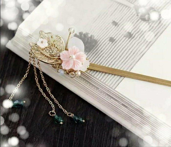 ( 在 ) 精裝 盒   古風髮飾 複古頭飾髮簪 中國風流蘇髮簪.可COS-臺北可面交/郵