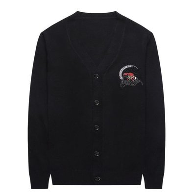 男士針織韓版男裝V領毛衣愛心刺繡針織衫外套毛衣外套男 秋冬長袖開衫針織外套t6598