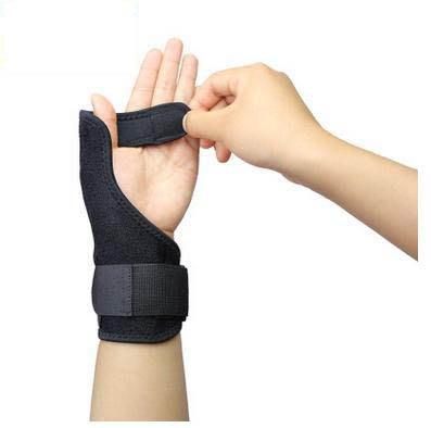 【運動護手-長約20*高約18cm-1個/組】運動護手護大拇指彈簧鋼條骨折防護扭傷大拇指支撐護腕-5670603