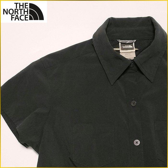 美國品牌✈️THE NORTH FACE 黒色短袖襯衫 排汗衫 雙口袋 短袖襯衫 NORTH FACE女裝 A1F06T