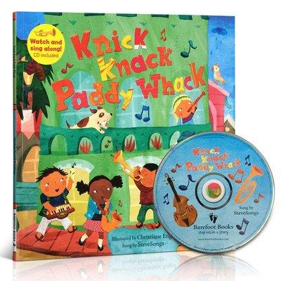 Knick Knack Paddy Whack(附CD)廖彩杏推薦韻文與歌謠 英文 大開本親子讀物 Barefoot B