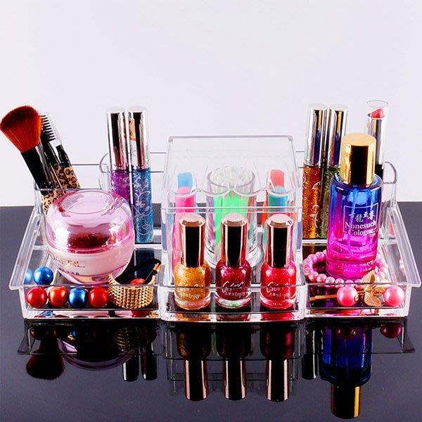 5Cgo【鴿樓】會員有優惠  43910385840 特大號化妝品桌面收納盒 透明塑料盒 護膚品整理盒化妝間首飾盒儲物盒