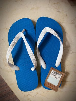 Havaianas 哈瓦士人字夾腳拖鞋 37/38 藍白色 H