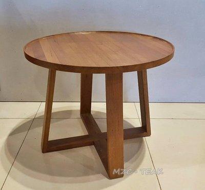 【美日晟柚木家具】ST16  柚木圓形邊几.大小茶几.客廳邊几.兒童寫字桌.矮桌.圓形桌