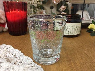 鄉村童話 Many 史黛西 玫瑰 玻璃 杯 水杯 氣泡感 手工