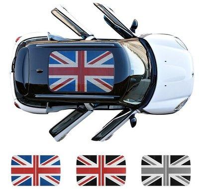 【車天下】寶馬mini天窗貼紙countryman改裝車貼米字旗車頂拉花裝飾貼cooper