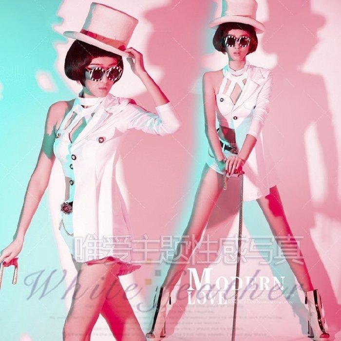 【優上精品】影樓婚紗主題寫真服飾 制服誘惑藝術照服飾 DS歌手舞臺演出服(Z-P3126)