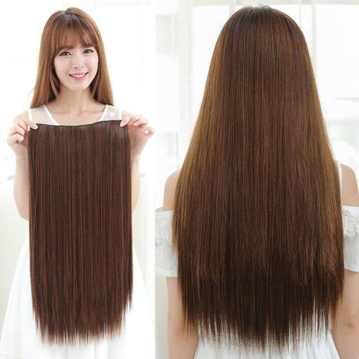 韓式長假髮假髮接髮片 一片式髮片假髮片 長髮仿真髮直髮片高溫絲假髮捲髮片SSDR922