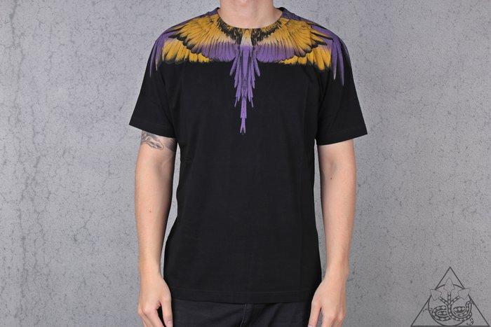 【HYDRA】Marcelo Burlon Purple Wings T-shirt 翅膀 羽毛 短T 黃紫【MB25】