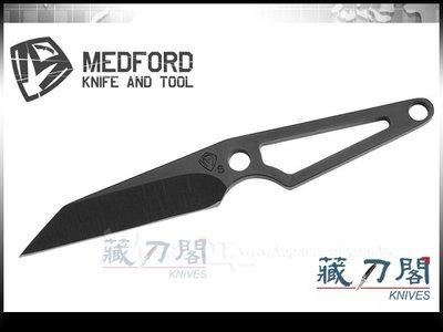 《藏刀閣》MEDFORD-(Thorn)S35VNE鋼Tanto型頸刀(黑鞘)