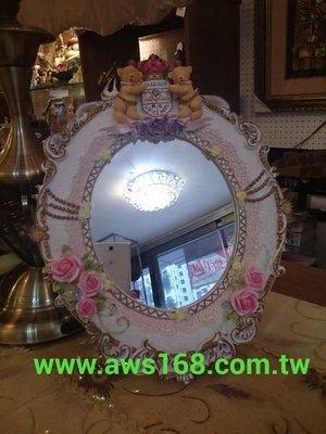 皇冠徽章雙熊桌鏡