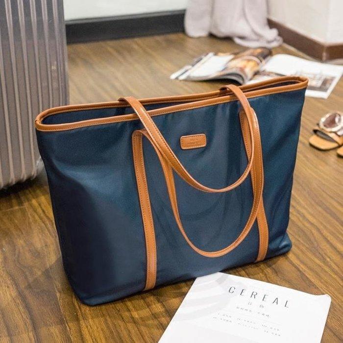索愛2019新款女單肩包牛津布尼龍學生女包通勤手提包托特包大包包