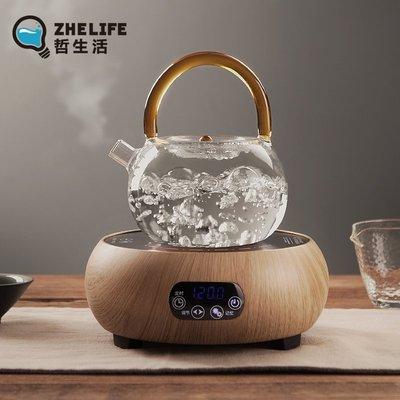 小花精品店-耐高溫玻璃茶壺加厚耐熱泡茶...