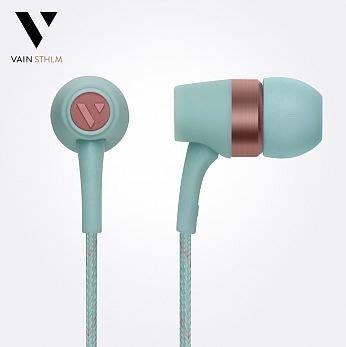 Vain STHLM 汎思 Originals 初衷 入耳式線控耳機(冰凍藍) 英大公司貨 愷威電子