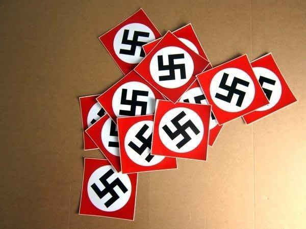 【衝浪小胖】納粹黨旗防水、抗UV貼紙/Nazi