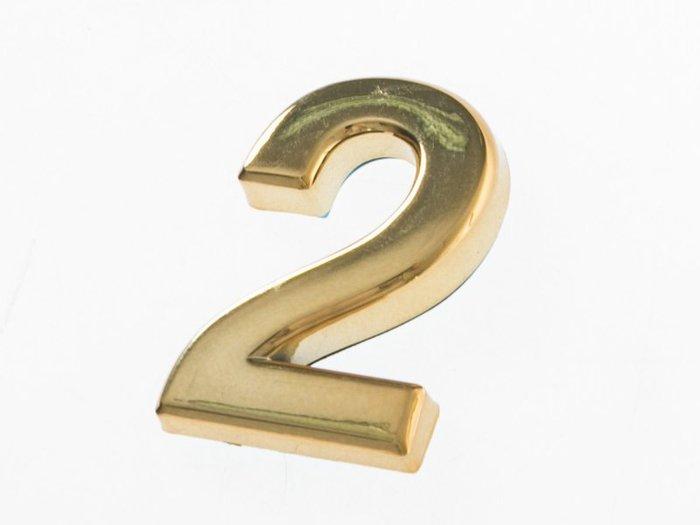 【幸福2次方】3D立體電鍍數字貼 - 金色5cm - 0~9可選